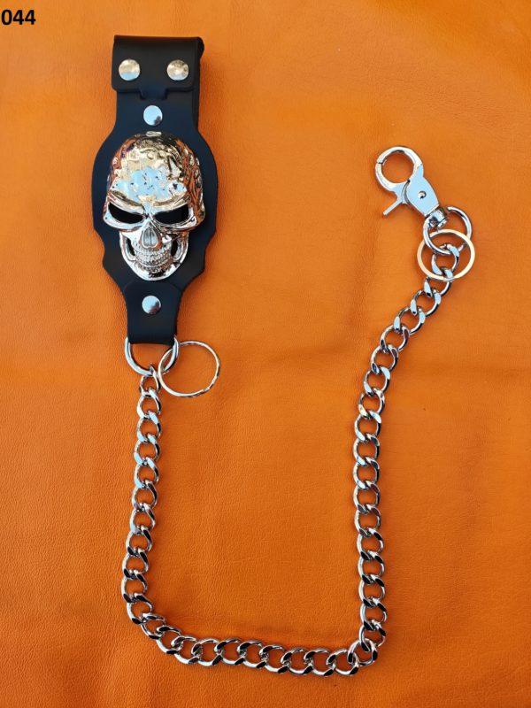 łańcuch do spodni duża czaszka
