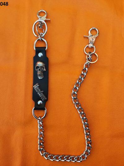 łańcuch do spodni z dwoma karabińczykami