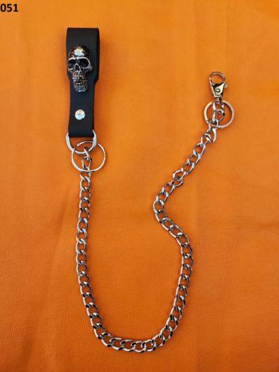 Oryginalny łańcuch do spodni z czaszką