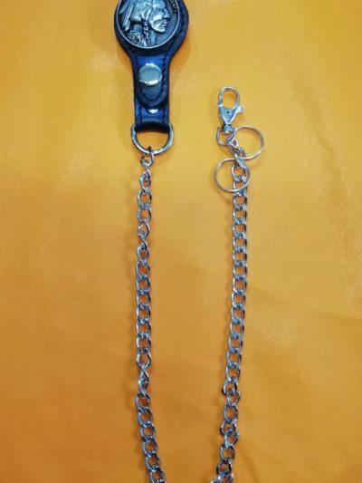 bojówka szlufka z Indianinem łańcuch do spodni
