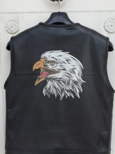 skórzana kamizelka motocyklowa męska z orłem